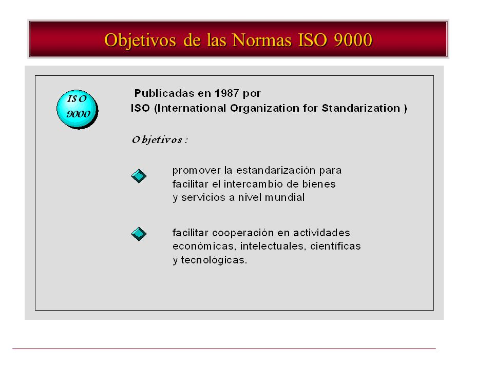Objetivos de las Normas ISO 9000