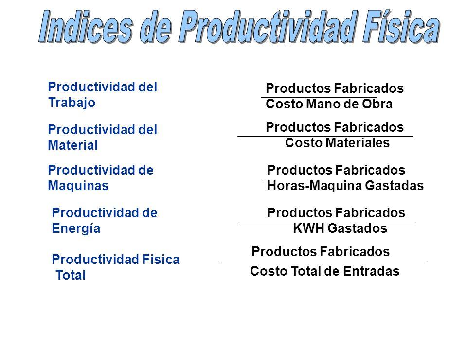 Productos Fabricados Costo Total de Entradas Productos Fabricados Costo Materiales Productos Fabricados Horas-Maquina Gastadas Productos Fabricados KW