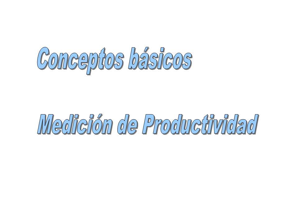 La relación entre la cantidad de bienes producidos y la cantidad de recursos utilizados