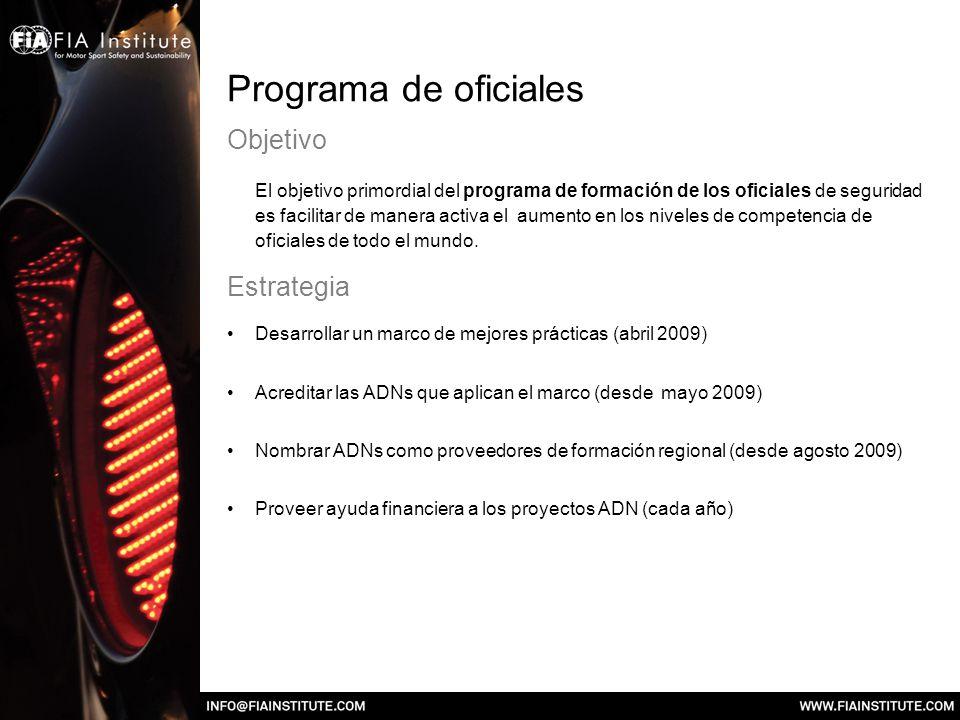 Programa de oficiales Objetivo El objetivo primordial del programa de formación de los oficiales de seguridad es facilitar de manera activa el aumento