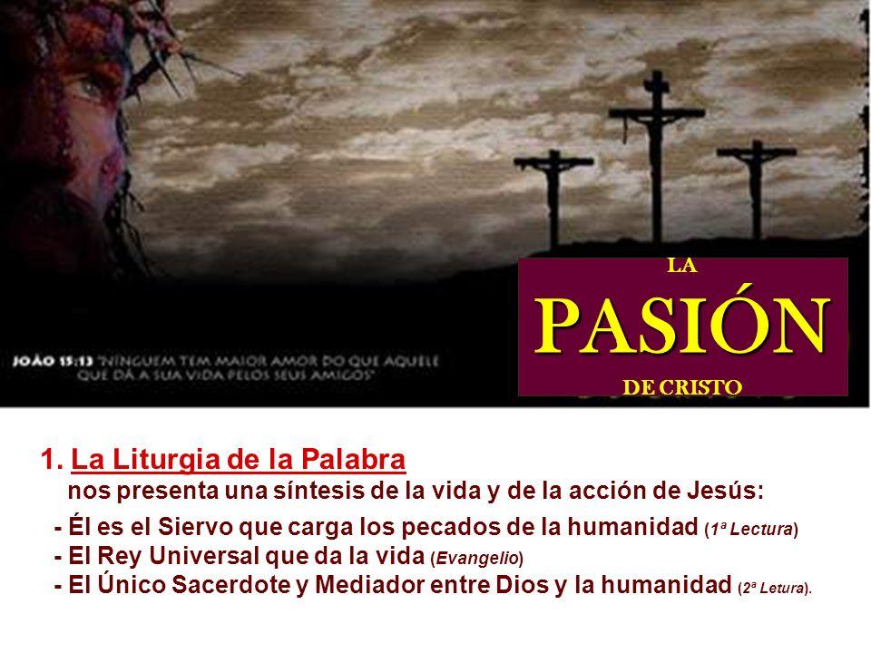 La Liturgia de la Pasión del Señor no tiene celebración de la Eucaristía, sino sólo la distribución de la comunión. Además de una introducción y concl
