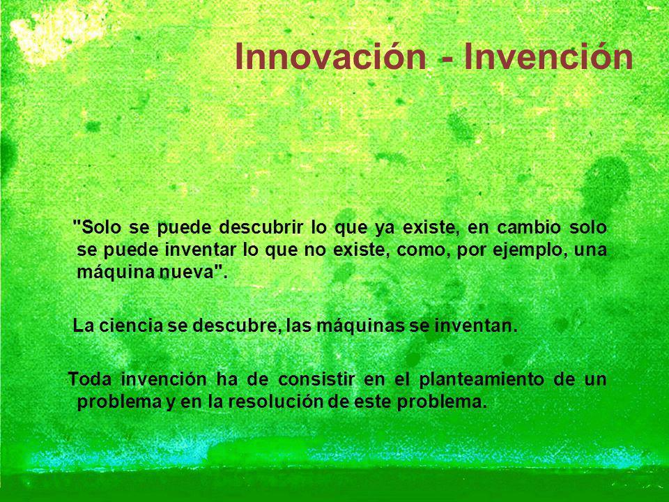 Innovación - Invención