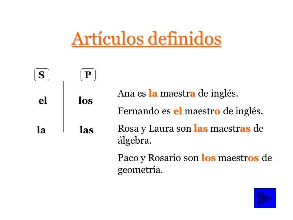 La gramática de Unidad 1 Etapa 2 Los artículos (Articles--Noun determiners) Los artículos (Articles--Noun determiners) –Definidos (Definite) Definidos