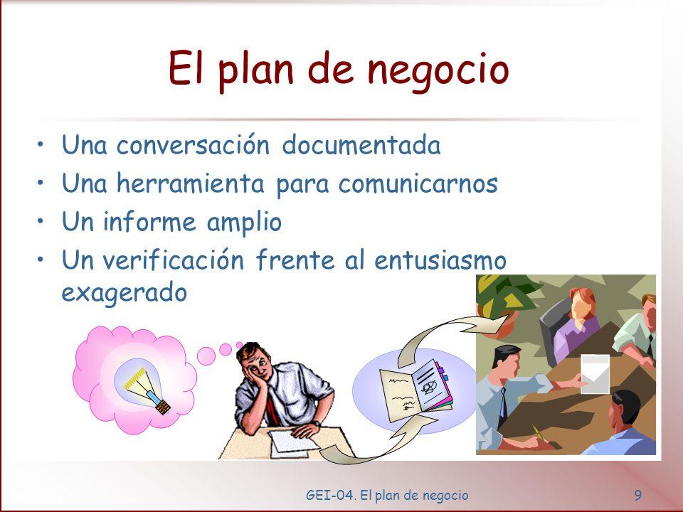 GEI-04.El plan de negocio19 ¿por qué escribir un plan de negocio.