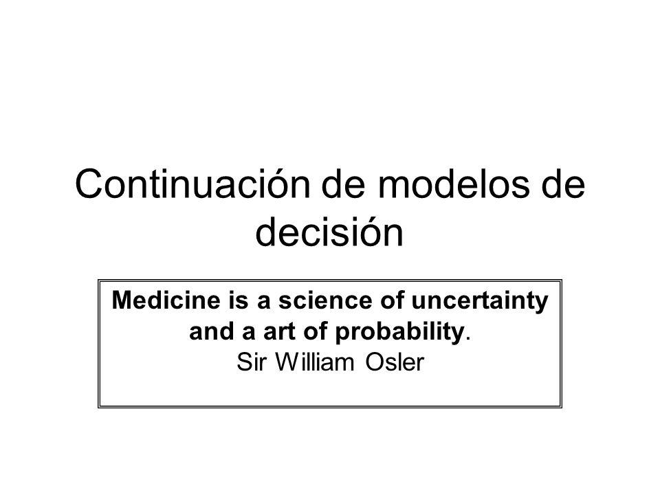 El modelo de Markov: Pasos para su desarrollo Identificar los estados de salud para el modelo Identificar la duración del ciclo Identificar la probabilidades de transición Identificar los resultados en salud (Costos, AVACs, AVG) Programar el modelo Correr la simulación Interpretar los resultados