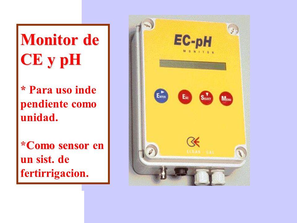 CE generada por la disolución de 1 g/l de fertilizantes solubles