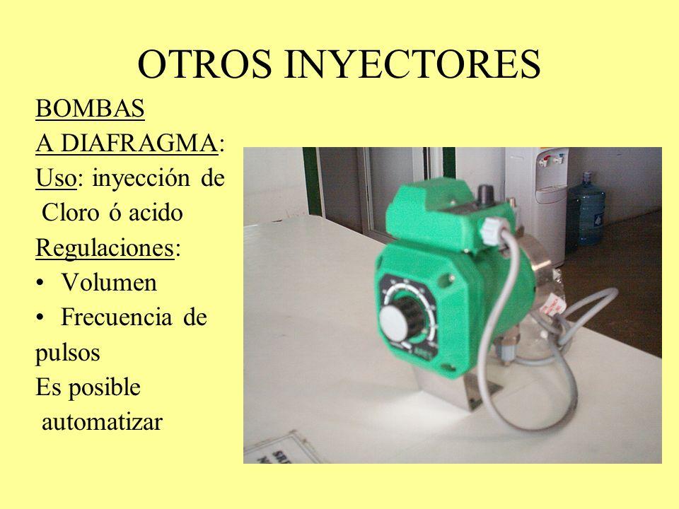 NUTRIJET: Equipo de inyección de ácido y fertilizante Inyectores: Bombas a diafragma Bomba de Ácido: Sulfúrico, nítrico y fosfórico Bomba de Fertiliza