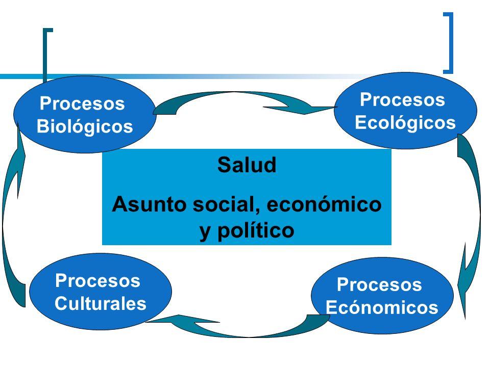 Salud Asunto social, económico y político Procesos Culturales Procesos Ecónomicos Procesos Ecológicos Procesos Biológicos