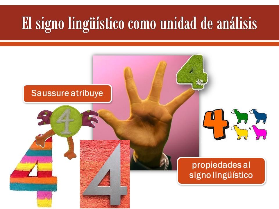 Saussure atribuye propiedades al signo lingüístico