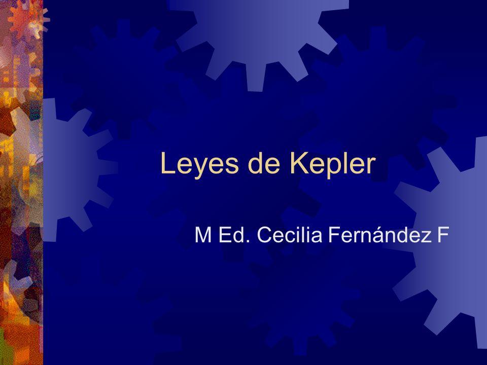 Leyes de Kepler M Ed. Cecilia Fernández F