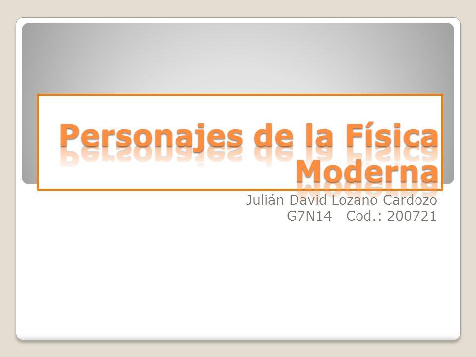 Julián David Lozano Cardozo G7N14 Cod.: 200721