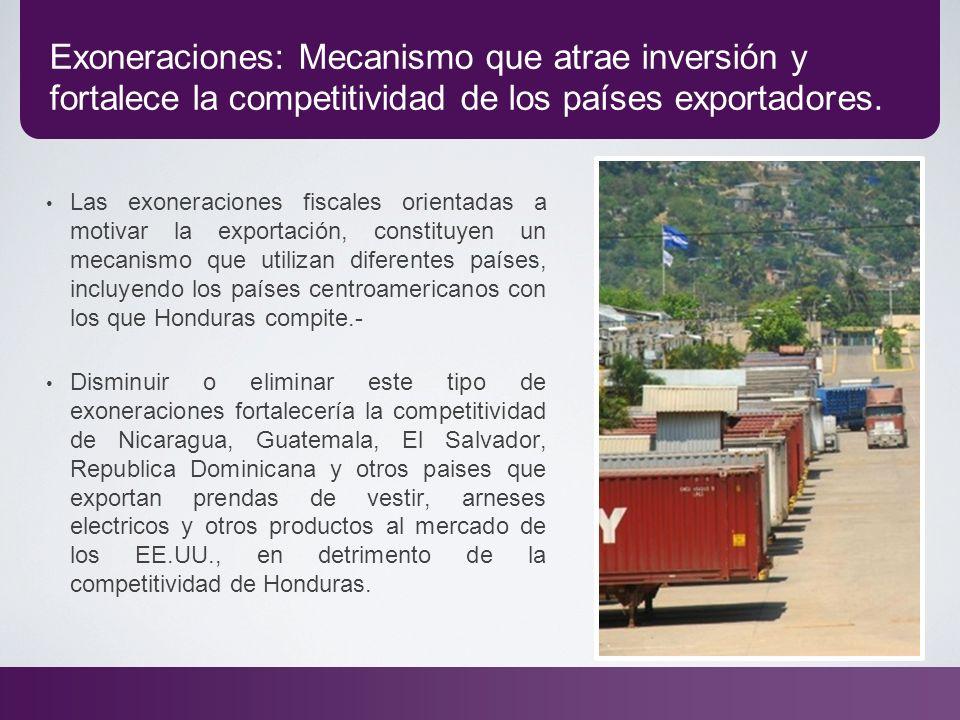 Exoneraciones: Mecanismo que atrae inversión y fortalece la competitividad de los países exportadores. Las exoneraciones fiscales orientadas a motivar