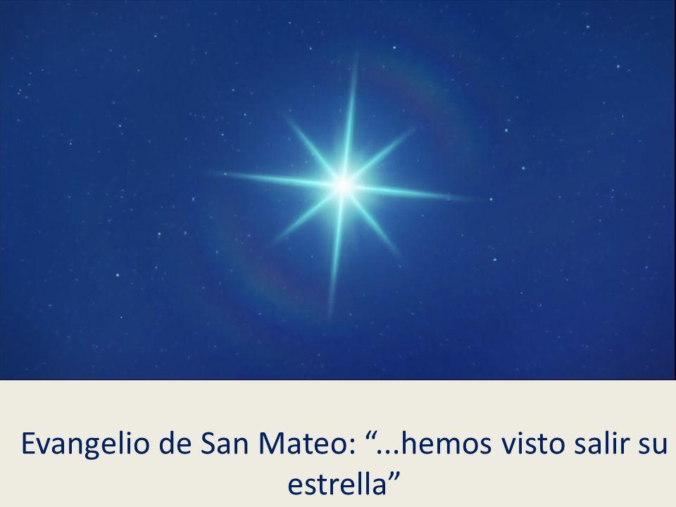 Evangelio de San Mateo:...hemos visto salir su estrella