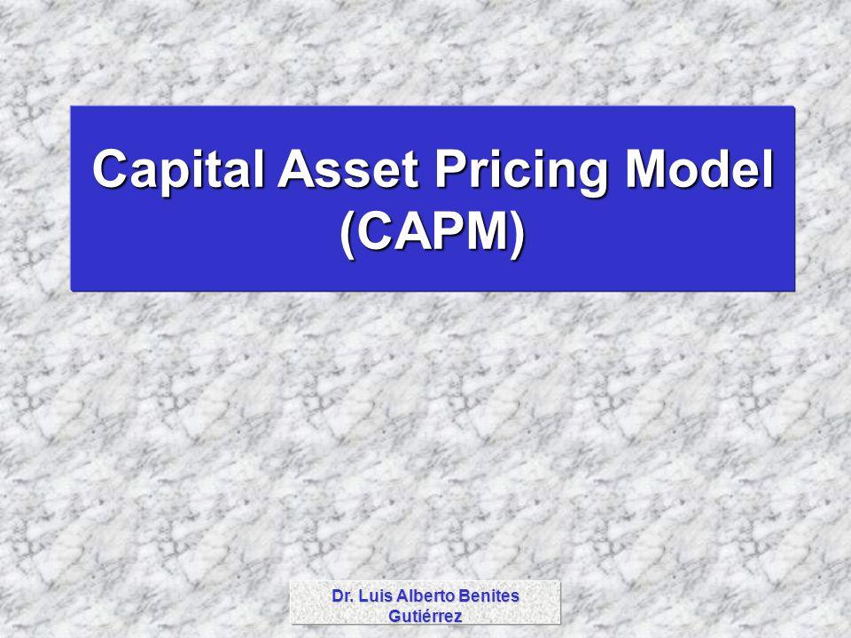 Dr. Luis Alberto Benites Gutiérrez Capital Asset Pricing Model (CAPM)