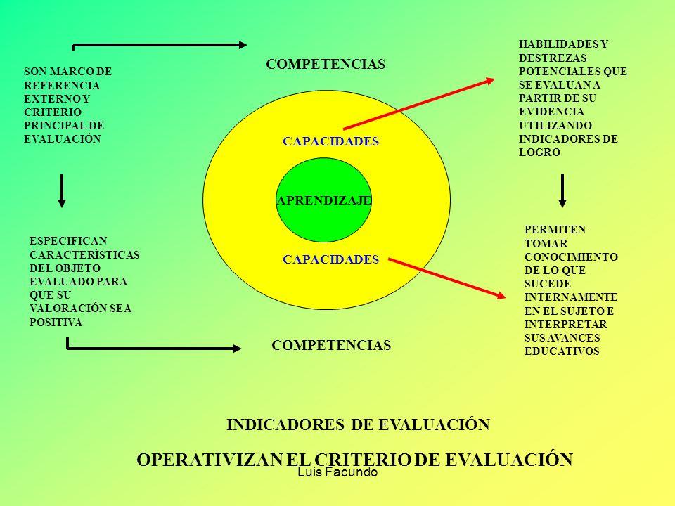 Luis Facundo ¿QUÉ ENTENDEMOS POR CAPACIDADES? Las capacidades son potencialidades inherentes a la persona y que ésta puede desarrollar a lo largo de t