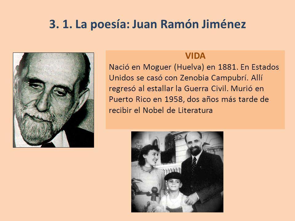 VIDA Nació en Moguer (Huelva) en 1881. En Estados Unidos se casó con Zenobia Campubrí. Allí regresó al estallar la Guerra Civil. Murió en Puerto Rico