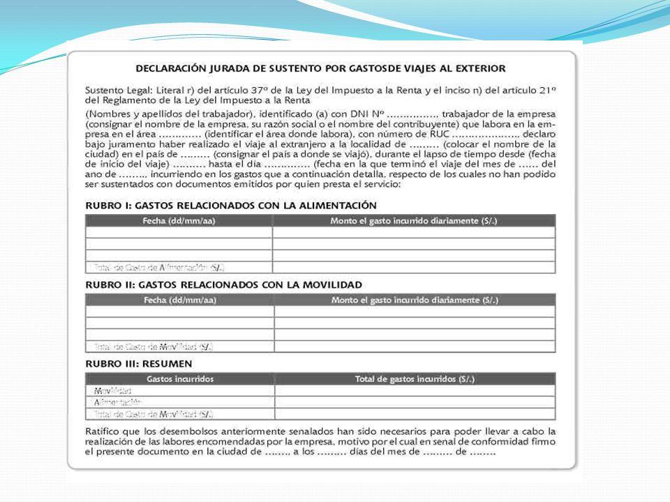 FECHALIMITE DUCIBLE 20/07/2010S/.420.00 21/07/2010S/.420.00 22/07/2010S/.420.00 23/07/2010S/.420.00 24/07/2010S/.420.00 25/07/2010S/.420.00 26/07/2010S/.420.00 TotalS/.2,940.00 RECONOCIMIENTO DEL GASTO TRIBUTARIO S/.