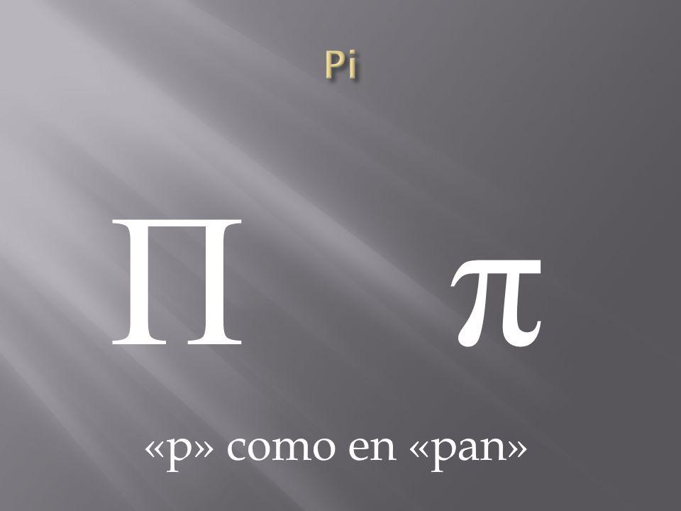 Π πΠ π «p» como en «pan»