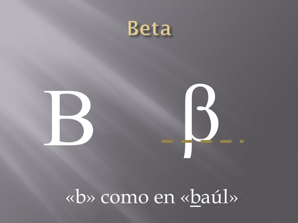 Β β «b» como en «baúl»