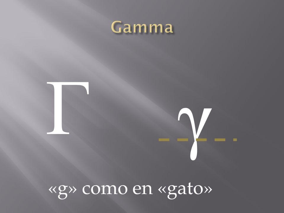 Γ γ «g» como en «gato»
