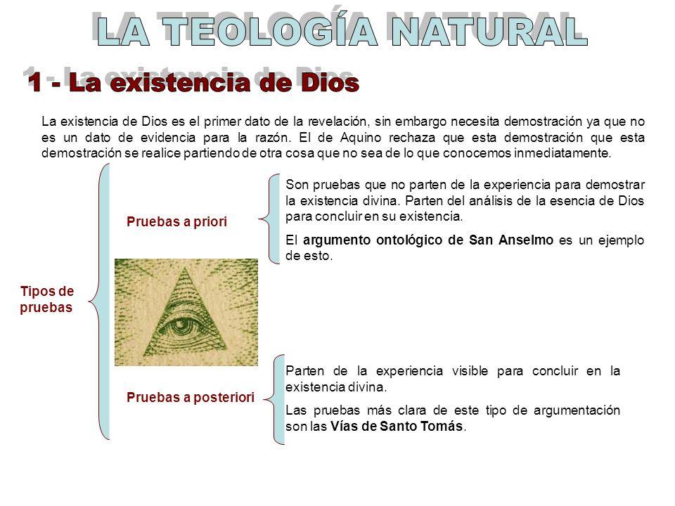 La existencia de Dios es el primer dato de la revelación, sin embargo necesita demostración ya que no es un dato de evidencia para la razón. El de Aqu