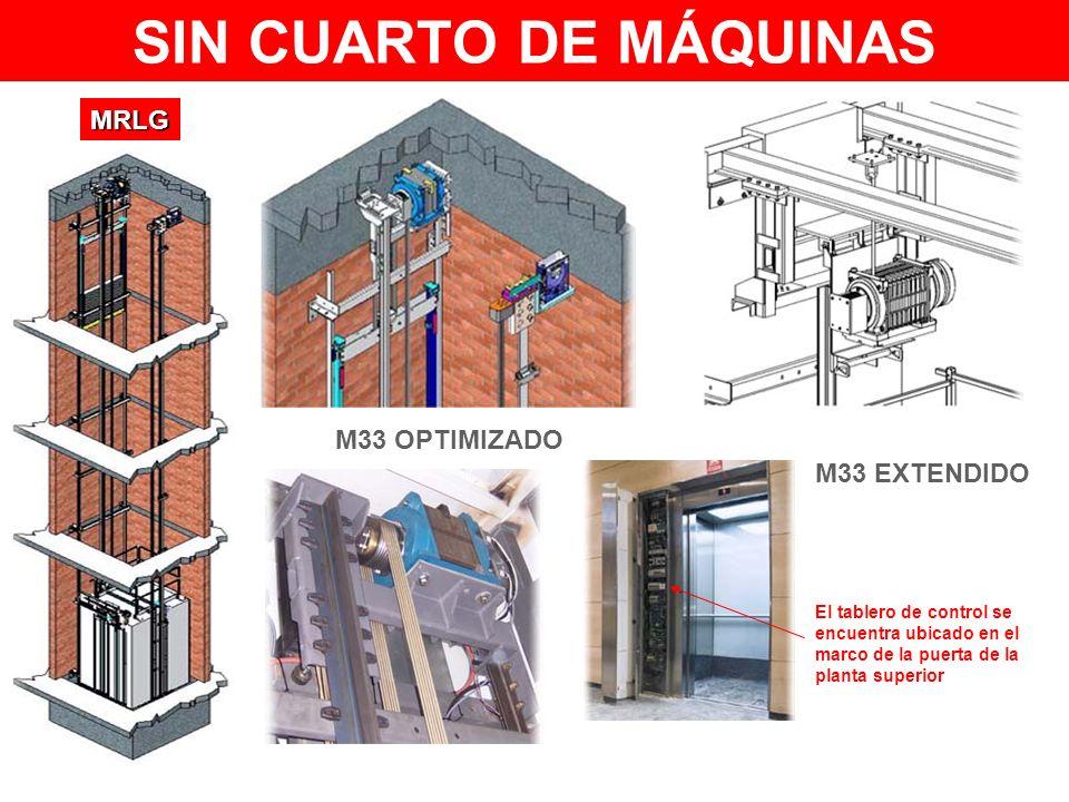 El tablero de control se encuentra ubicado en el marco de la puerta de la planta superior M33 OPTIMIZADO M33 EXTENDIDO MRLG SIN CUARTO DE MÁQUINAS