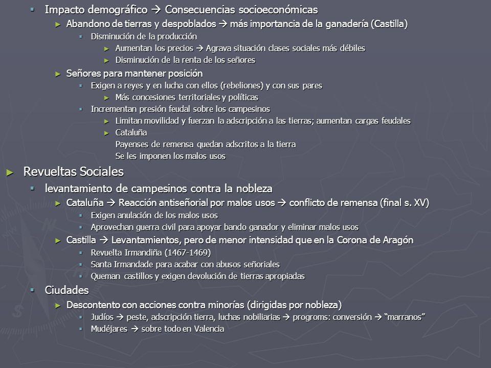 Impacto demográfico Consecuencias socioeconómicas Impacto demográfico Consecuencias socioeconómicas Abandono de tierras y despoblados más importancia