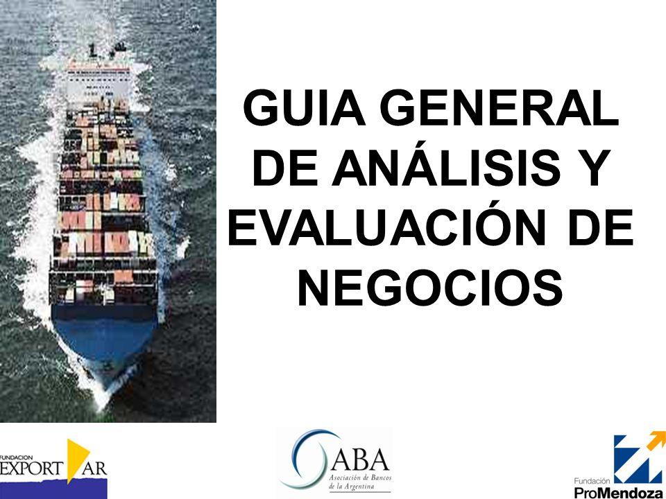 GUIA GENERAL DE ANÁLISIS Y EVALUACIÓN DE NEGOCIOS