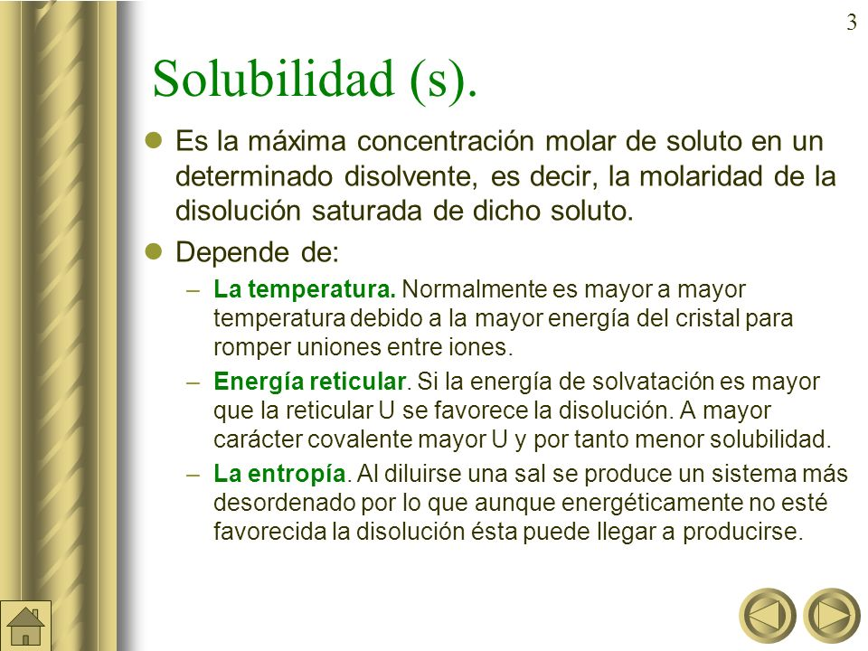 3 Solubilidad (s).