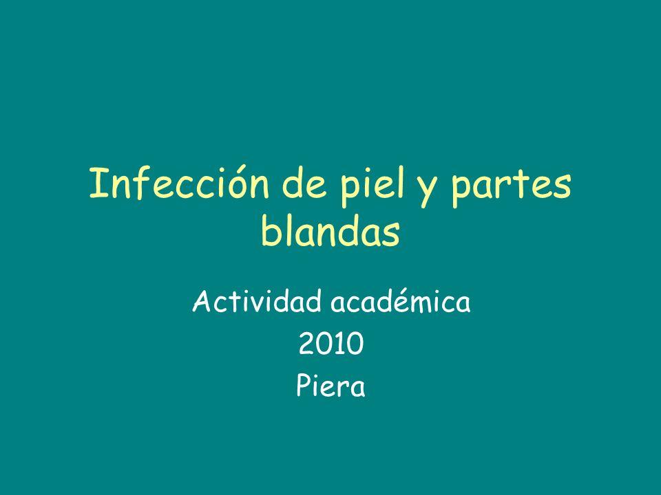Infección de piel y partes blandas Actividad académica 2010 Piera