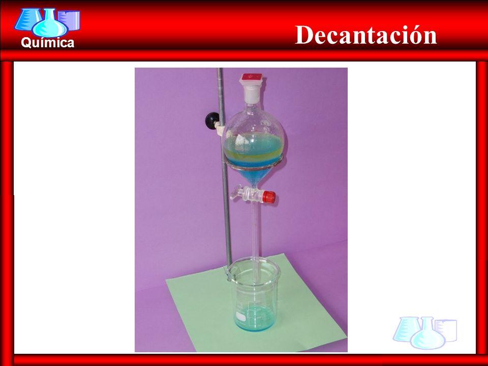 Química Decantación