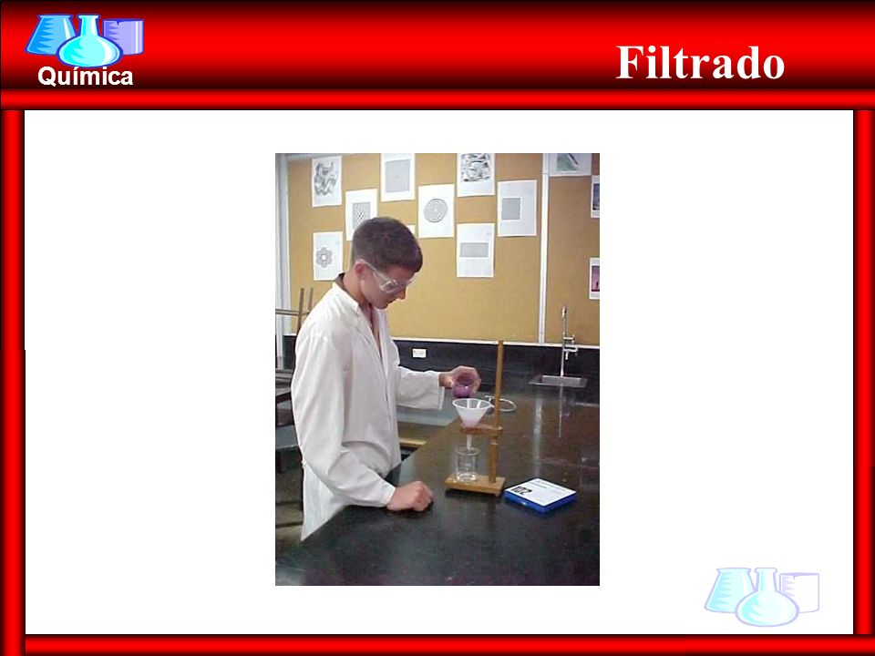 Química Flotación Ex.: arena + aserrín Heterogénea Heterogénea (S + S) (S + S) Diferentes densidades Diferentes densidades