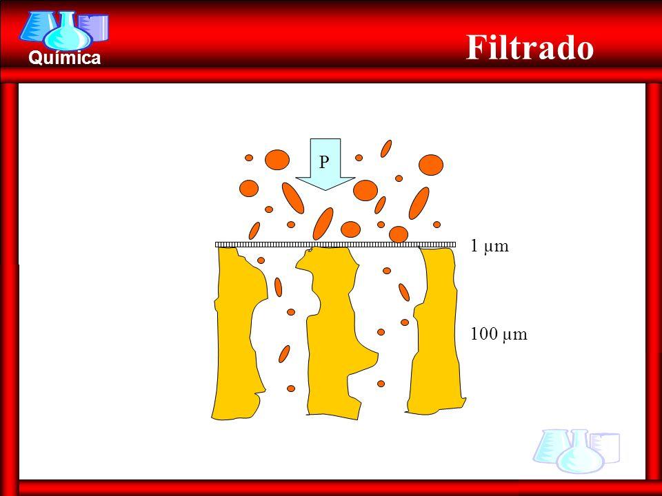 Química Filtrado 1 µm 100 µm P