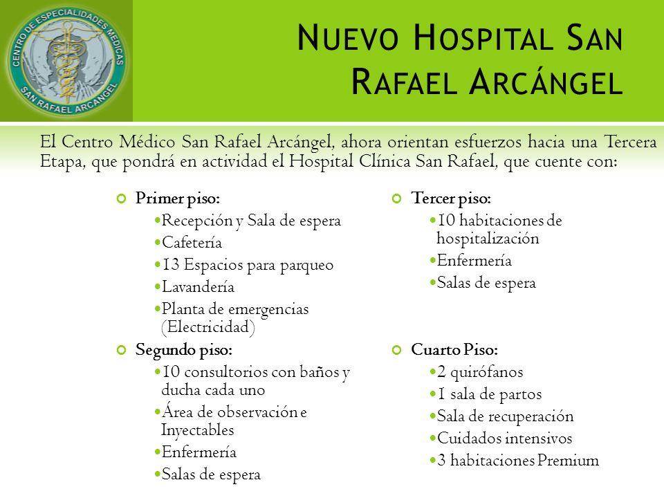 El Centro Médico San Rafael Arcángel, ahora orientan esfuerzos hacia una Tercera Etapa, que pondrá en actividad el Hospital Clínica San Rafael, que cu