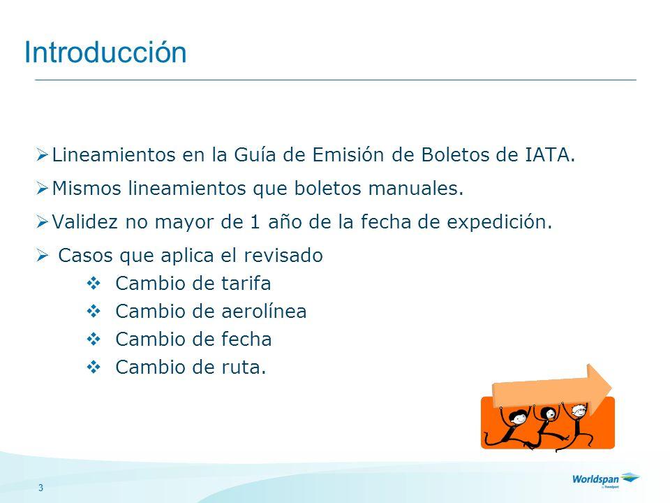3 Introducción Lineamientos en la Guía de Emisión de Boletos de IATA. Mismos lineamientos que boletos manuales. Validez no mayor de 1 año de la fecha