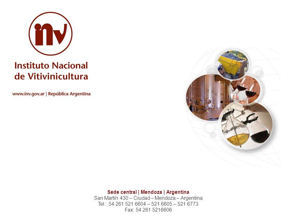 Sede central | Mendoza | Argentina San Martín 430 – Ciudad – Mendoza – Argentina Tel.: 54 261 521 6604 – 521 6605 – 521 6773 Fax: 54 261 5216606