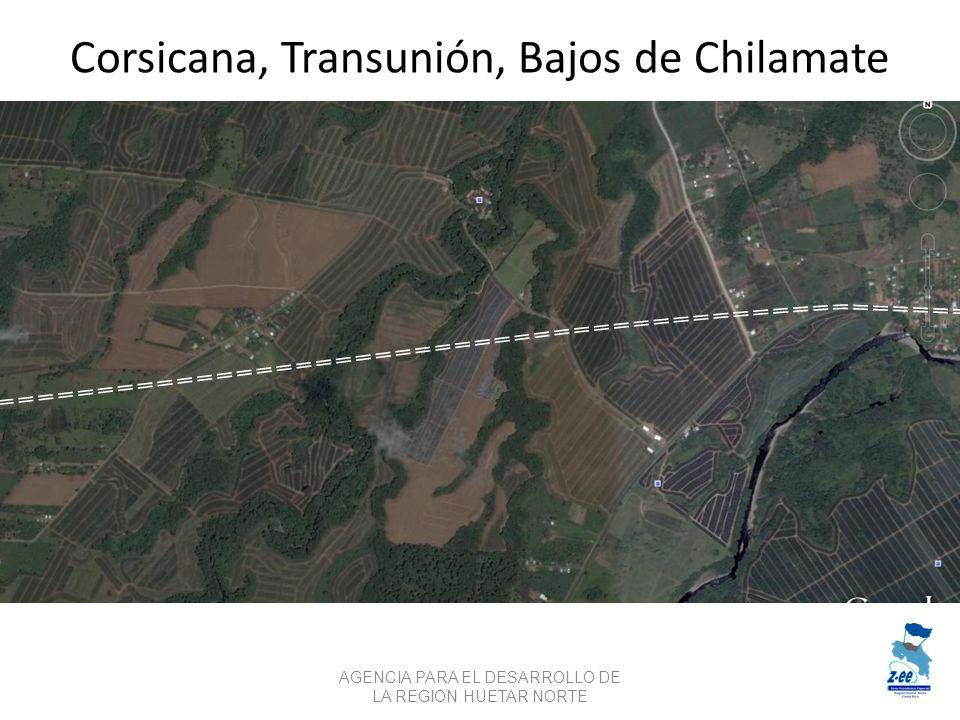 Corsicana, Transunión, Bajos de Chilamate AGENCIA PARA EL DESARROLLO DE LA REGION HUETAR NORTE