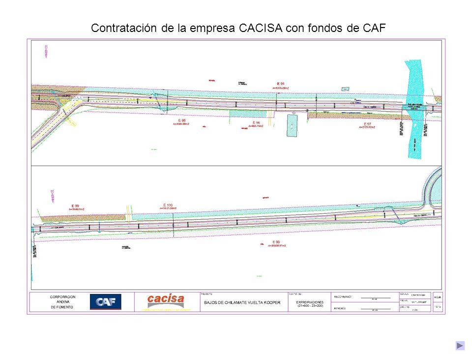 Contratación de la empresa CACISA con fondos de CAF