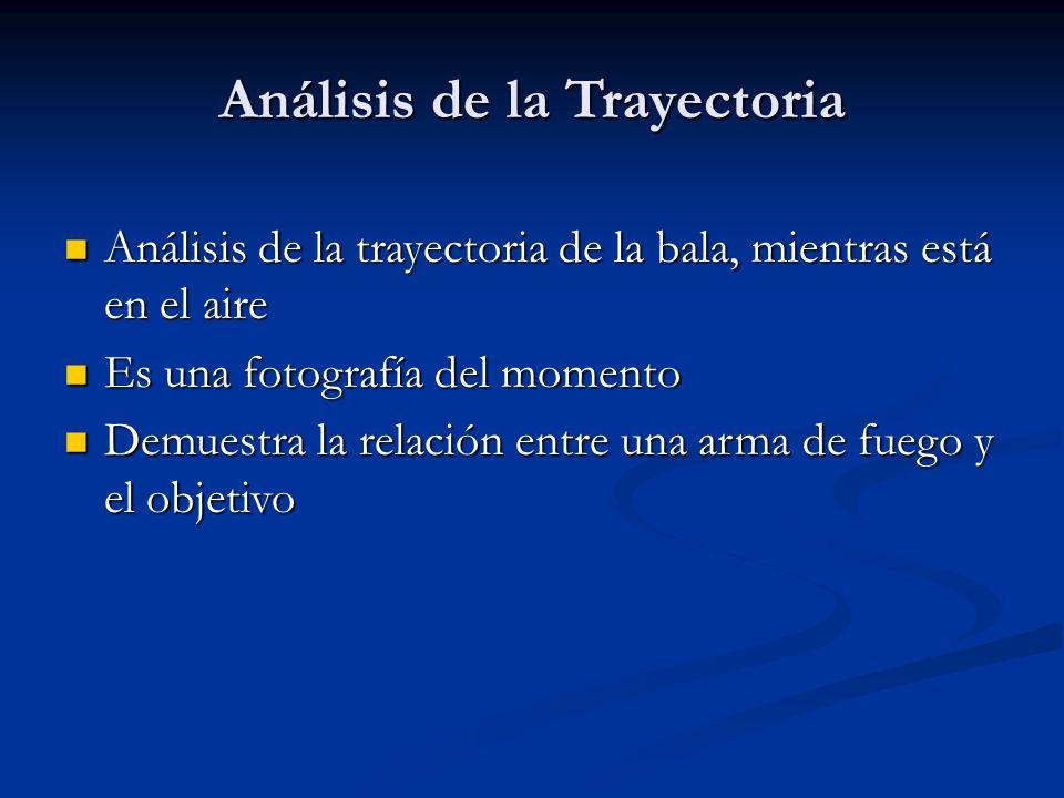 Análisis de la Trayectoria Análisis de la trayectoria de la bala, mientras está en el aire Análisis de la trayectoria de la bala, mientras está en el