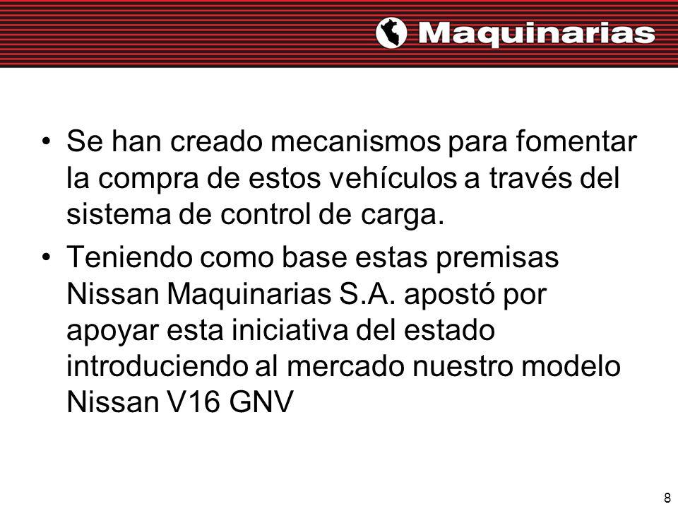 8 Se han creado mecanismos para fomentar la compra de estos vehículos a través del sistema de control de carga. Teniendo como base estas premisas Niss