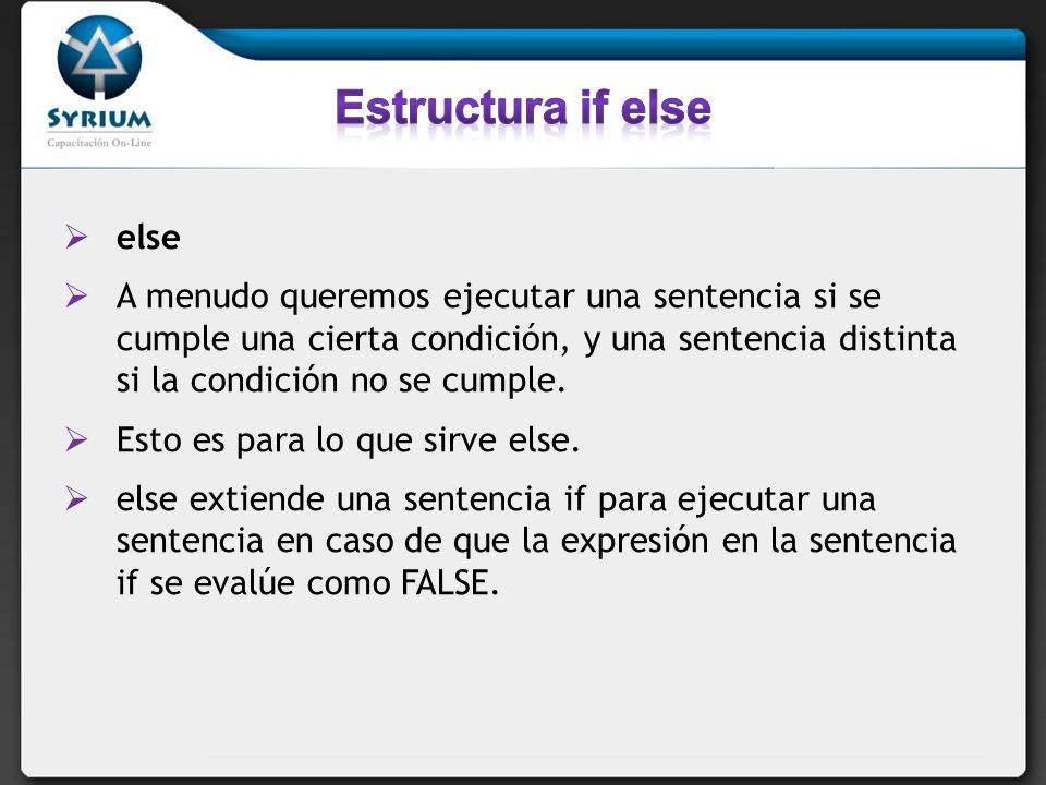 while(condición) sentencia El significado de una sentencia while es simple.