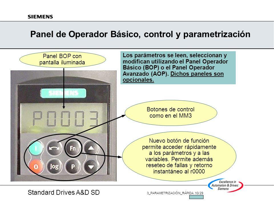 Standard Drives A&D SD 3_PARAMETRIZACIÓN_RÁPIDA 9/ 29 JUL/2002 MM420, Usando los Parametros Ajuste de los parámetros Los parámetros del MM420/MM440 ha