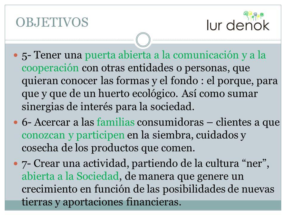 5- Tener una puerta abierta a la comunicación y a la cooperación con otras entidades o personas, que quieran conocer las formas y el fondo : el porque