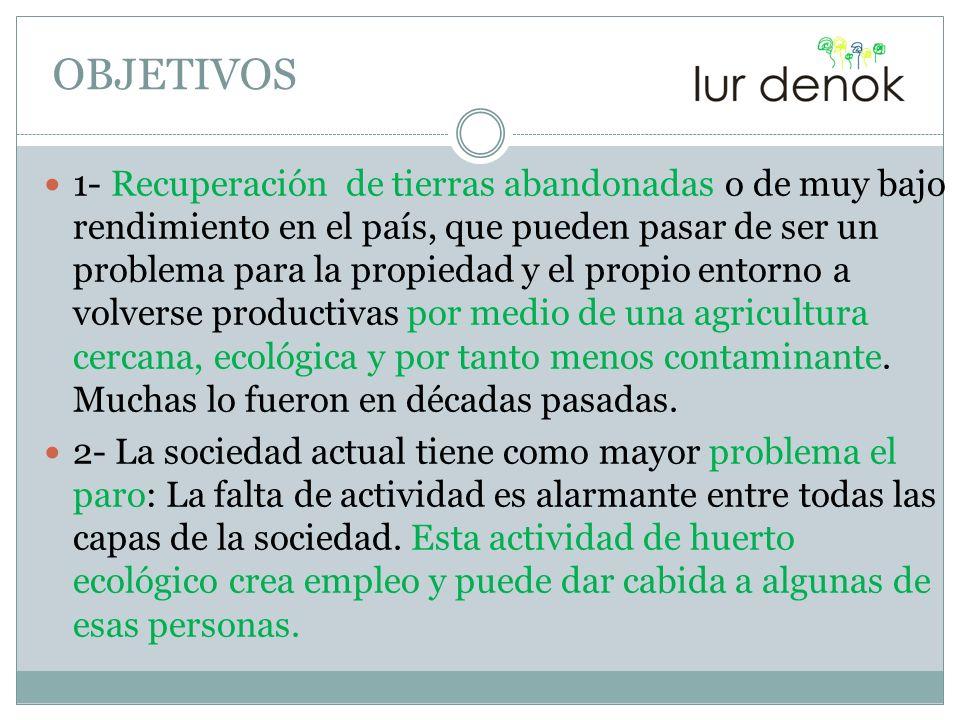 3- La alimentación ecológica y en consecuencia la cultura sobre la misma es muy escasa en la sociedad.