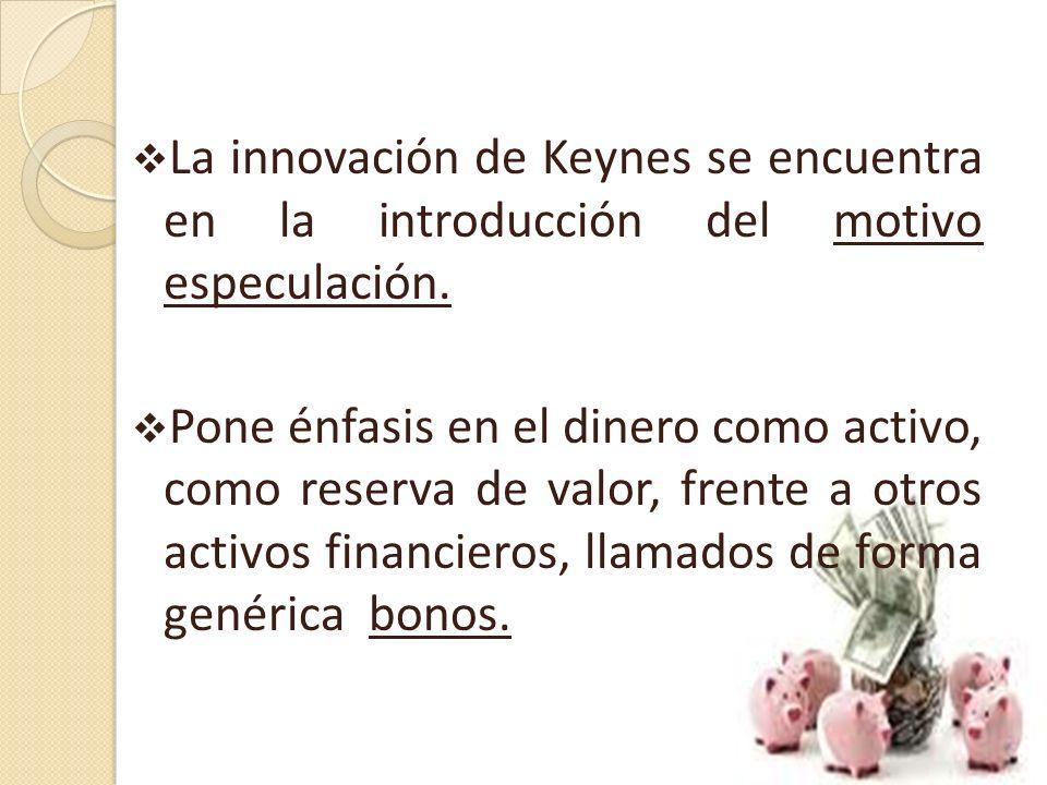 COMPONENTES DE LA DEMANDA AGREGADA LA DEMANDA DE DINERO: Los agentes demandan dinero por dos motivos: Motivo transacción (depende del ingreso). Motivo
