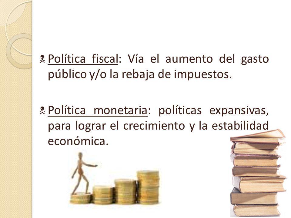 RECOMENDACIÓN DE POLÍTICA ECONÓMICA ¿ Cuáles eran los síntomas económicos de la depresión? Deflación (caída en los índices de precios). Alto desempleo