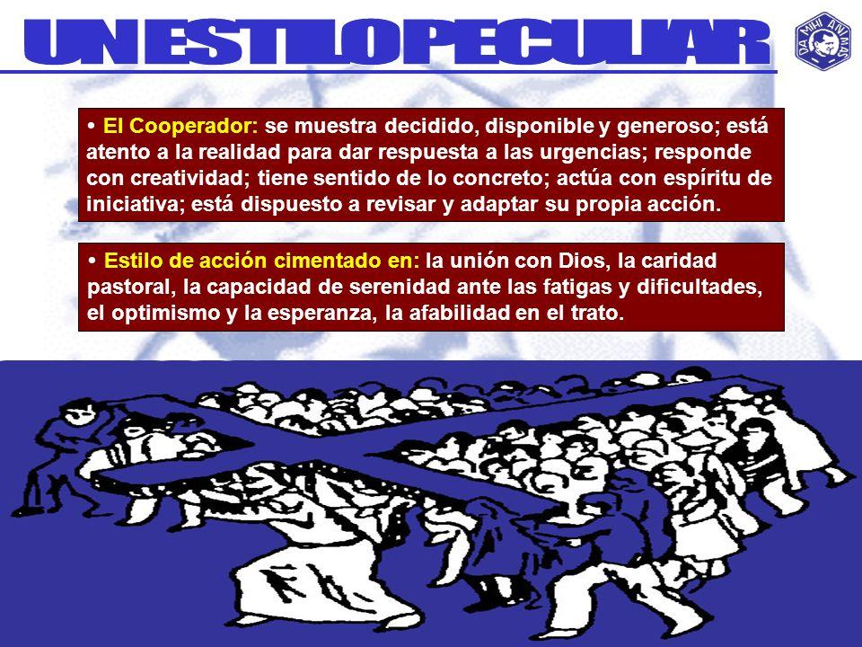 El Cooperador: se muestra decidido, disponible y generoso; está atento a la realidad para dar respuesta a las urgencias; responde con creatividad; tie