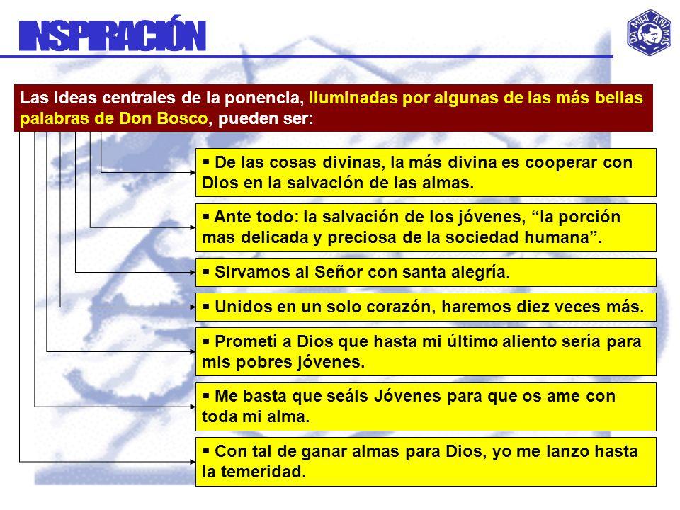 La acción misionera del Cooperador: Se basa en la unión con Dios, a imitación de Don Bosco.