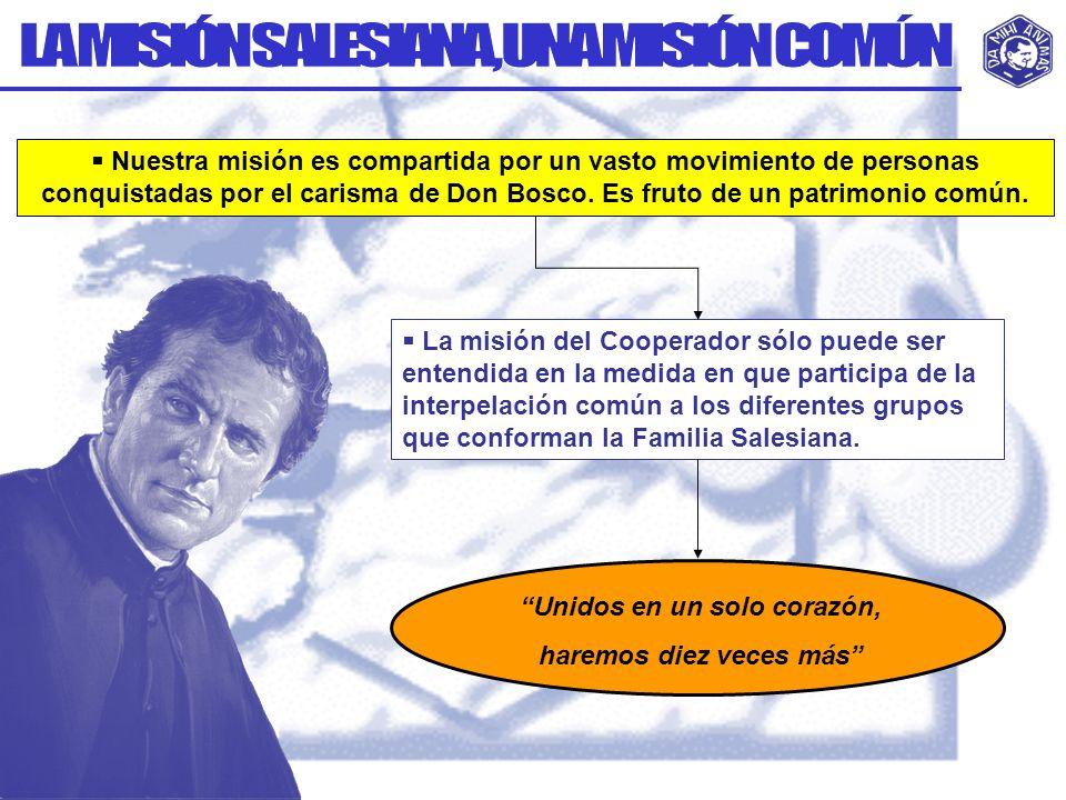 Unidad de misión de los Cooperadores con los religiosos y religiosas salesianos.