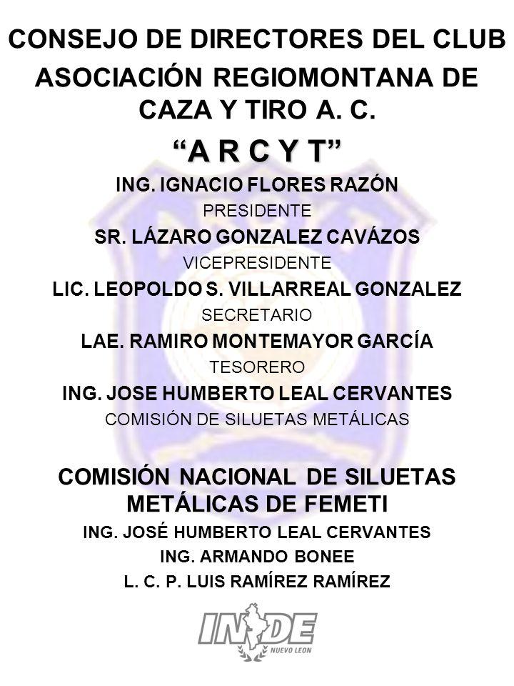 CONSEJO DE DIRECTORES DEL CLUB ASOCIACIÓN REGIOMONTANA DE CAZA Y TIRO A.